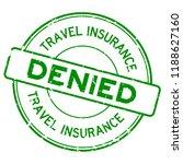 grunge green travel insurance... | Shutterstock .eps vector #1188627160