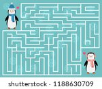 winter maze game for kids. help ... | Shutterstock .eps vector #1188630709