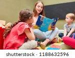 childminder and children...   Shutterstock . vector #1188632596