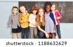 happy multicultural group of... | Shutterstock . vector #1188632629