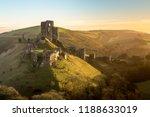 corfe castle  dorset  england | Shutterstock . vector #1188633019