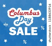 columbus day sale promotion ... | Shutterstock .eps vector #1188633916
