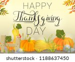 happy thanksgiving day | Shutterstock .eps vector #1188637450