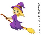 happy halloween cartoon witch... | Shutterstock .eps vector #1188637600
