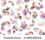 seamless colored flowers for... | Shutterstock . vector #1188640666