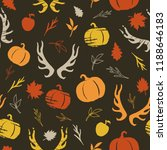 autumnal seamless pattern with... | Shutterstock .eps vector #1188646183