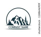 mountain logo icon design... | Shutterstock .eps vector #1188646909