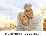 senior couple embracing each... | Shutterstock . vector #118865179
