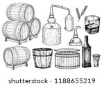Distillery. Vector Hand Drawn...