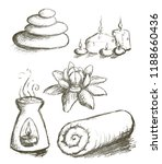 spa hand drawn set vector | Shutterstock .eps vector #1188660436