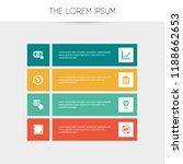 set of 8 editable finance icons.... | Shutterstock .eps vector #1188662653