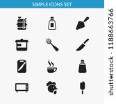 set of 12 editable food icons.... | Shutterstock .eps vector #1188663766