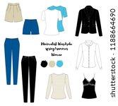 illustration of women's skirt ... | Shutterstock .eps vector #1188664690