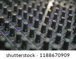 mixers mixing console audio...   Shutterstock . vector #1188670909