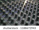 mixers mixing console audio...   Shutterstock . vector #1188672943