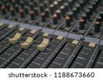 mixers mixing console audio...   Shutterstock . vector #1188673660