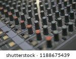 mixers mixing console audio...   Shutterstock . vector #1188675439