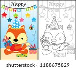 coloring book with funny... | Shutterstock .eps vector #1188675829