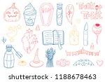 cute pack of halloween doodle... | Shutterstock .eps vector #1188678463
