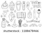cute pack of halloween doodle... | Shutterstock .eps vector #1188678466