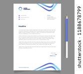 letterhead template for... | Shutterstock .eps vector #1188678799