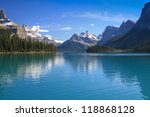 Maligne Lake At The Jasper...