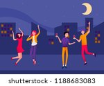 night cityscape poster with... | Shutterstock .eps vector #1188683083