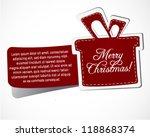 christmas gift sticker | Shutterstock .eps vector #118868374