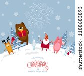 merry christmas and happy new... | Shutterstock .eps vector #1188683893