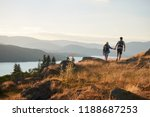 rear view of couple walking on... | Shutterstock . vector #1188687253