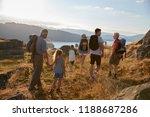rear view of multi generation... | Shutterstock . vector #1188687286