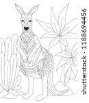 simple line art of kangaroo for ... | Shutterstock .eps vector #1188694456