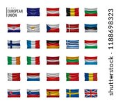 flags of the european union.... | Shutterstock .eps vector #1188698323