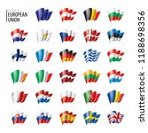 flags of the european union.... | Shutterstock .eps vector #1188698356