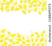 ginkgo leaves frame on white...   Shutterstock .eps vector #1188699373