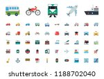 all type of transport ... | Shutterstock .eps vector #1188702040