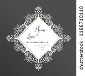 wedding invitation vintage.... | Shutterstock .eps vector #1188710110