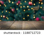 wooden dark tabletop and... | Shutterstock . vector #1188712723