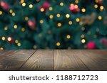 wooden dark tabletop and... | Shutterstock . vector #1188712723