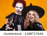 Image Of Witch Woman And Clown...