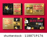 set of vector black friday sale ... | Shutterstock .eps vector #1188719176