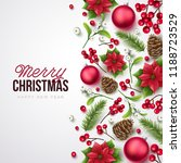 merry christmas background.... | Shutterstock .eps vector #1188723529