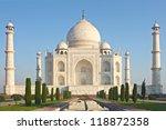 taj mahal   a famous historical ... | Shutterstock . vector #118872358