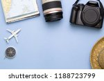 top view of traveler... | Shutterstock . vector #1188723799