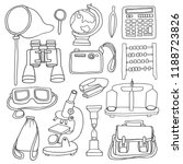 school tools set for physical... | Shutterstock .eps vector #1188723826