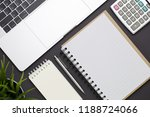 top view of business office on... | Shutterstock . vector #1188724066