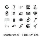 business vector icon set.... | Shutterstock .eps vector #1188724126