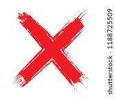 x.grunge letter x vector cross... | Shutterstock .eps vector #1188725509