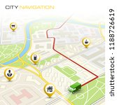 city map navigation route ... | Shutterstock .eps vector #1188726619