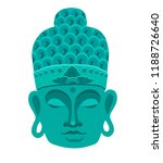 buddha mask blue color.... | Shutterstock .eps vector #1188726640